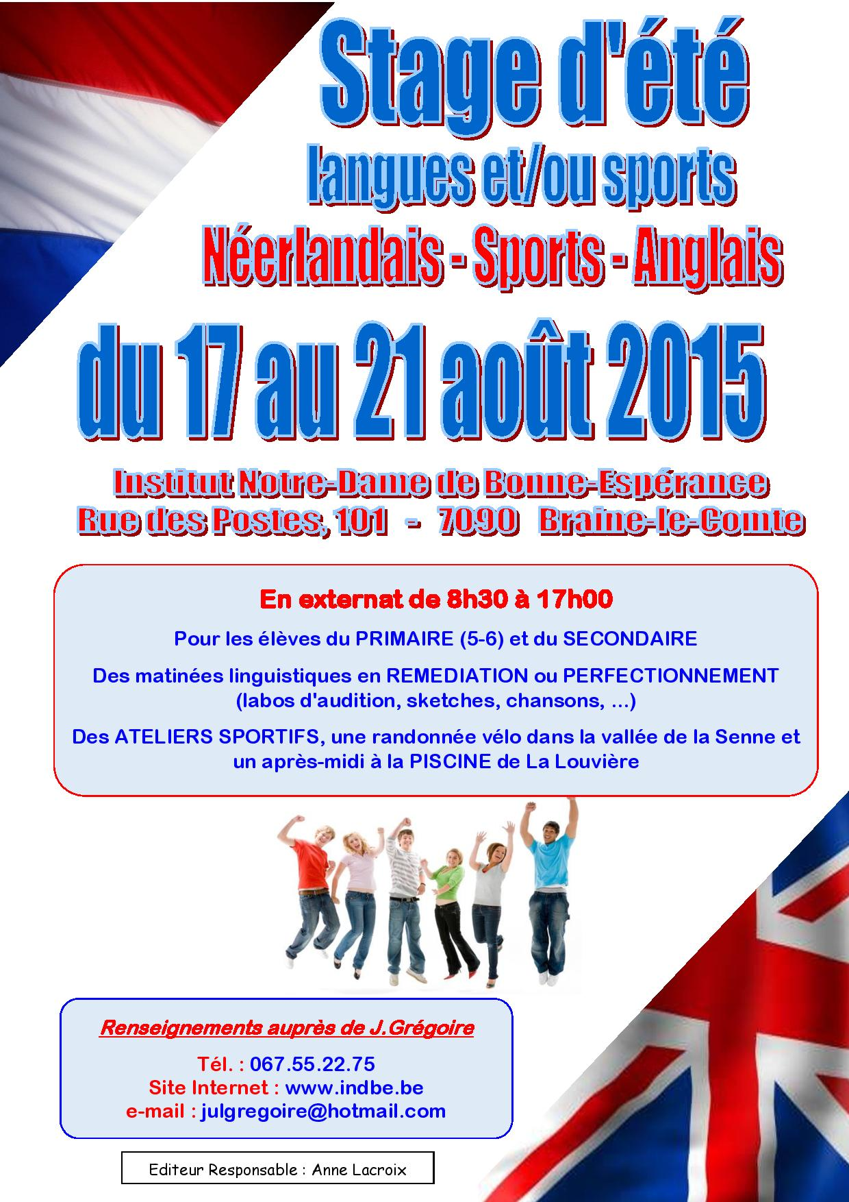 stage sports et langues 2015